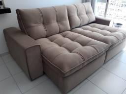 Sofá retrátil e reclinável novo modelo fofão