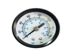"Manômetro 0 a 10 Horizontal Rosca 1/8"" - 4 UND"