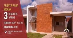 Precabura Residence R$ 238.000 Casa Plana com pe direito elevado 3 quartos alto padrão