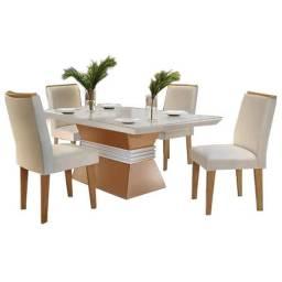 Mesa de Jantar 4 cadeiras Agatha 1,20m Rufato