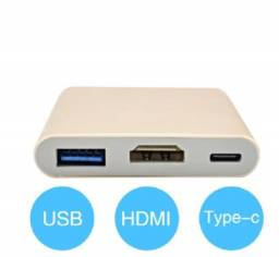 Título do anúncio: Adaptador Tipo C para USB 3.0, HDMI e Type C Fêmea