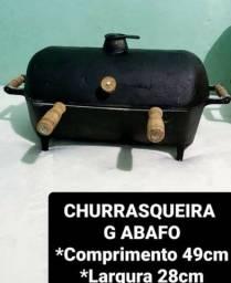 CHURRASQUEIRA ABAFO ALUMÍNIO FUNDINDO