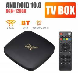 Título do anúncio: Tv Box Smart 5g Versão Converter 8g+128g Ram P/ Android 10.0