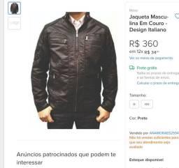 jaqueta couro capitan exchange italy style tamanho GGG<br>Muito confortável e acolchoada