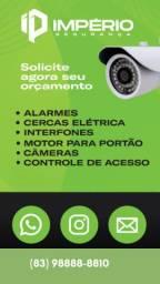 Câmeras, motor de portão, Interfones e cerca elétrica - 12x S/ Juros
