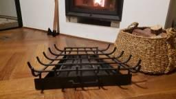 Grelha para Lareira Trapézio Reforçada com Gaveta 63cm x 45cm <br>