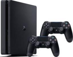 Console Ps4 Slim Playstation 4 500gb + 2 Controles Dualshock + Minecraft
