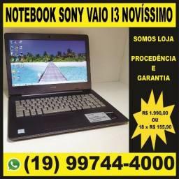 "Notebook Sony Vaio C14 Intel Core I3, Tela 14"", 4GB, HD 1 TB, Windows 10 - Novissimo."