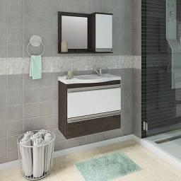 Título do anúncio: Gabinete Banheiro Grécia com Pia e Espelheira com 1 Porta - MGM Móveis