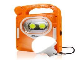 Lanterna Recarregavel Com Painel Solar E Lampada De Brinde