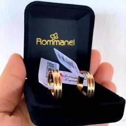 Título do anúncio: Linda Aliança Rommanel Folheada à Ouro 18k UNIDADE