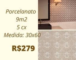 Título do anúncio: Porcelanato 9m², 5xs
