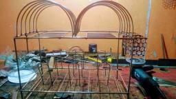 Escorredor de Prato e copo e taileires em Aço Inox