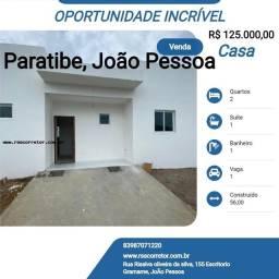 Título do anúncio: Casa para Venda em João Pessoa, Paratibe, 2 dormitórios, 1 suíte, 1 banheiro, 1 vaga