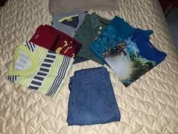 Título do anúncio: Lote de roupas para menino 6 anos