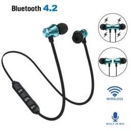 Fone De Ouvido Magnético Sem Fio Intra-Auricular Com Bluetooth