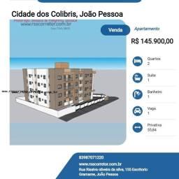 Título do anúncio: Apartamento para Venda em João Pessoa, Cidade dos Colibris, 2 dormitórios, 1 suíte, 1 banh