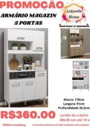 Armário Magazin 5 portas