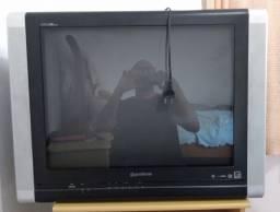 Televisor gradiente tela plana