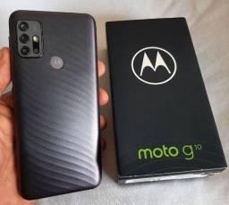 Moto G10 64GB 4GB Ram Câmera Quádrupla 48MP Leitor Biométrico<br>Por 1100.00<br>