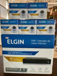 DVR Elgin 16 canais e Câmeras HD 720p