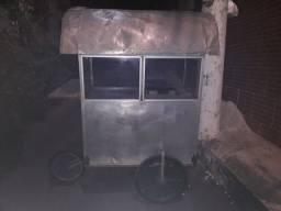 Vendo carrinho de churrasco de aluminio
