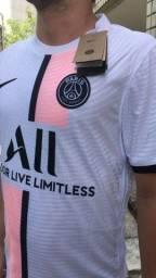 Título do anúncio: Camisa PSG branca Messi (Version player) 21/22
