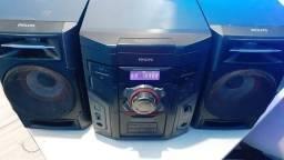 Som Mini System Philips 3CDs, MP3, Usb, Rádio, 200Watts Rms.