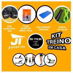 Kit Treino em Casa - Canelira - Colchonete - JT Esportes