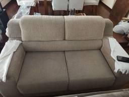 Conjunto de sofá 2 e 3 lugares retrátil