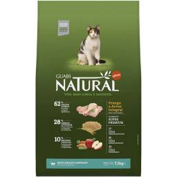Guabi Natural Gato Castrado frango 7,5kg R$182,60