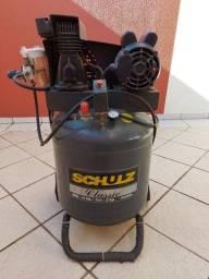 Compressor schulz 100 litros 2hp bivolt