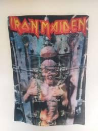 Título do anúncio: Bandeira Iron maiden x factor. Impressão excelente. Envio grátis.