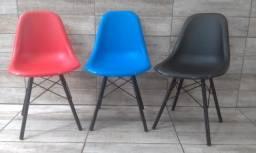 Cadeiras Escritorio Conchas Nova Varias Cores Giratoria E Fixas Home Office