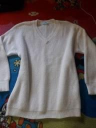 Lindo blusão Branco sem manchas veste M