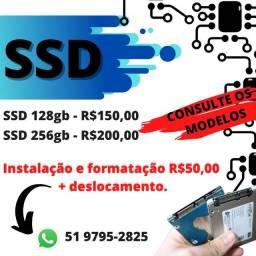 Instalação e venda de SSD