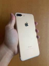 iPhone 7plus 32gb Gold + cabo ( 3 meses de garantia )