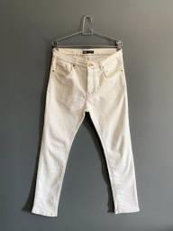 Calça Jeans Zara Branca / Tam 40
