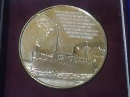 Moeda (medalha) de Prata Comemorativa dos 100 anos da imigração japonesa no Brasil