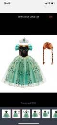 Fantasia infantil - Ana Frozen - Tamanho 3 anos