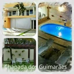 Chapada dos Guimarães - Locação por Temporada - 04 Quartos c/ piscina