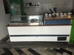 Balcão/freezer/pia