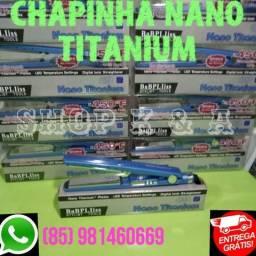 Prancha / Chapinha Nano Titanium (Nova) + BRINDE + GARANTIA