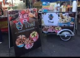 Carrinho de sorvete na chapa - sorvete tailandês semi novo