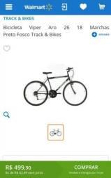 Bicicleta aro 26 de 18 marchas marca track
