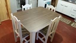 Mesa 4 Cadeiras! 100% MDF