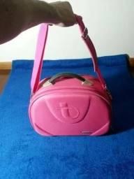 Vendo Frasqueira de Viagens Tonin - rosa com espelho interno e alça