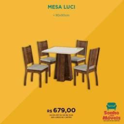 Mesa de Jantar com 4 cadeiras- Produto Novo e com Garantia Entrega Rápida