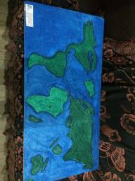 Maquetes do Mapa Mundi
