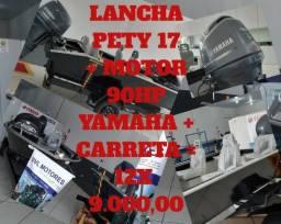 Pormoção Imperdível!!! Lancha 17 Pety + motor 90 HP Yamaha + Carreta 12x 9.000,00 - 2018